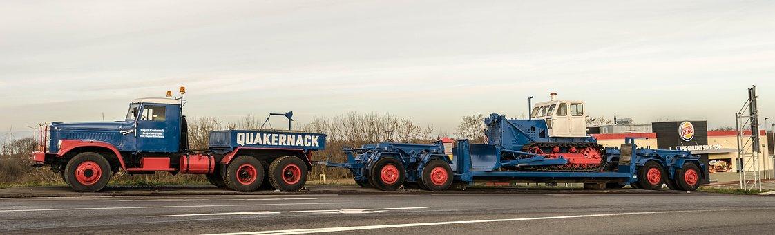 Truck, Transport, Heavy Duty, Traffic