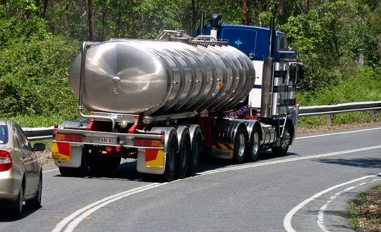 Truck, Tanker, Water Carrier, Metal, Vehicle, Road