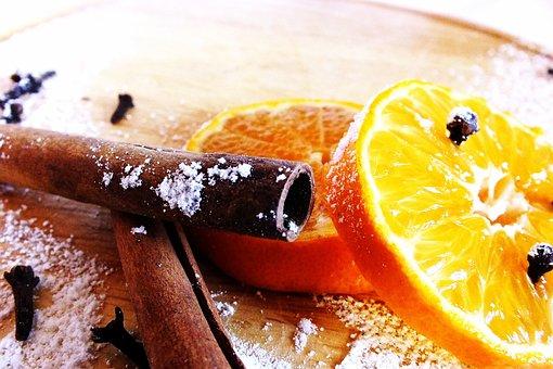 Winter, Holidays, Christmas, Mandarin, Cinnamon, Cloves