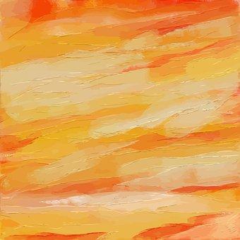 Orange, Brush Stroke, Abstract, Background, Smear