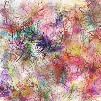 Messy, Watercolor, Abstract, Background, Painting, Ink