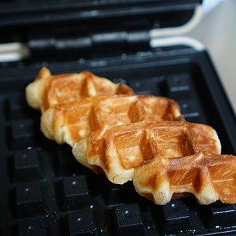 Croffle, Waffle, Waffle Maker, Croissant, Bread
