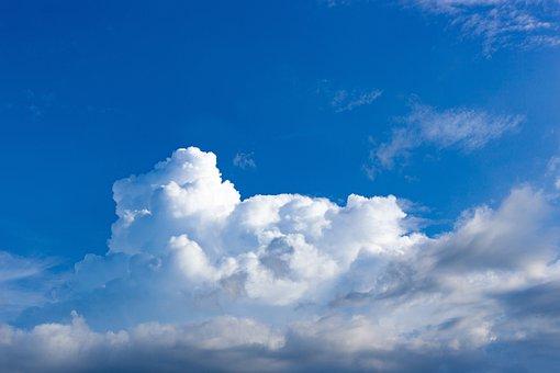 Sky, Clouds, Blue Sky, Cloudscape, Cumulus Clouds