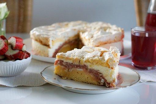 Rhubarb Cake, Cake, Dessert, Fruit Pie, Pastry