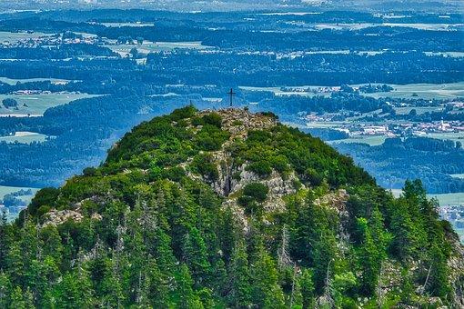 Summit Cross, Cross, Mountain, Chiemgau, Hill
