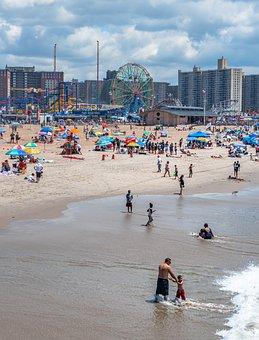 Coney Island, Beach, Brooklyn, Holiday, Vacation
