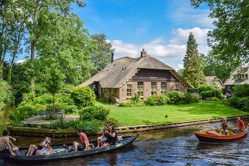 Giethoorn, Netherlands, Boats, Holiday, Vacation