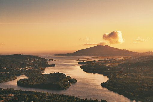 Sea, Coast, Vila Nova De Cerveira, Islands, Portugal