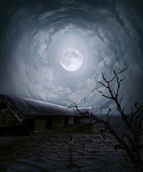 Haunted House, Night, Girl, Horror, Kid, Little Girl