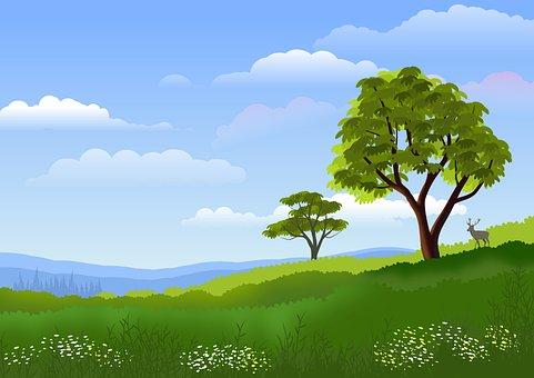 Nature, Landscape, Hill, Background, Mountains, Sky