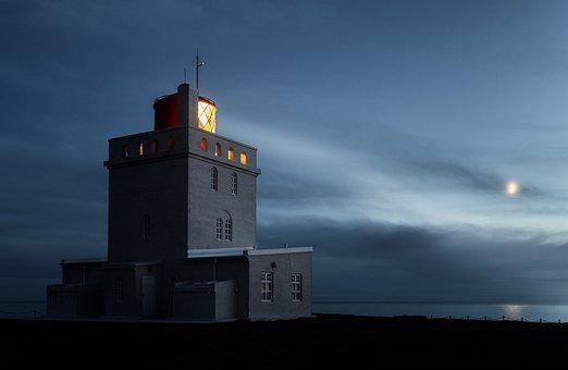 Lighthouse, Building, Coast, Sea, Ocean, Light, Horizon