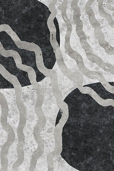Waves, Abstract, Background, Gray, Painting, Design