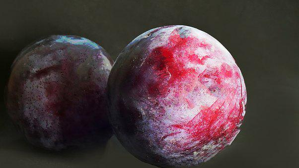 Plums, Fruit, Food, Drupe, Stone Fruit, Produce