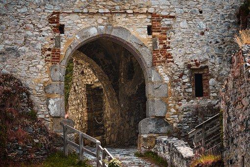 Gate, Castle, Rabi, Sumava, Ruin, Entrance, Passage