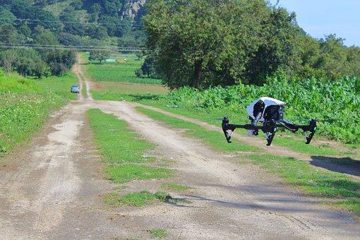 Drone, Road, Rural, Camera Drone, Quadrocopter, Uav