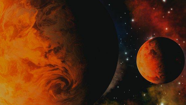 Universe, Space, Earth, Moon, Galaxy, Stars, Sky