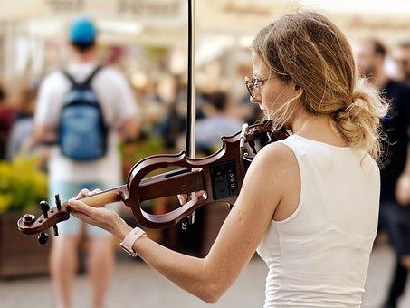 Street Performer, Violin, Music, Instrument