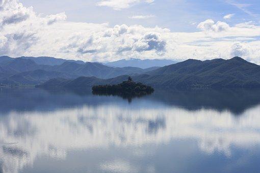 Scenery, Lake, Reflections, Nature, Water, Mountains