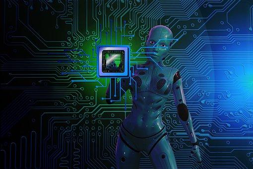 Digitization, Cyborg, Chip, Circuit, Robot, Board