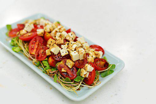 Tomato, Cheese, Dish, Sprout, Vegetable, Cuisine, Food