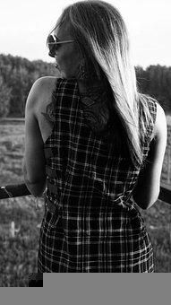 Woman, Model, Portrait, Pose, Style, Hair, Outdoor