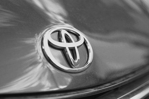 Car, Hood, Chrome, Vehicle, Logo, Toyota, Shiny, Auto