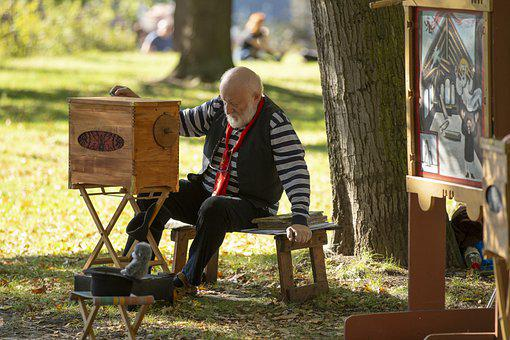 Old Man, Ticket Booth, Park, Ticketing, Ticket Sales