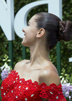 Woman, Model, Portrait, Red Dress, Pose, Style, Fashion