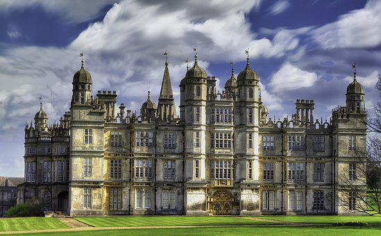 Building, Facade, Stately Home, Burghley House