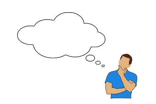 Cloud, Thinking, Man, Thought Bubble, Think Cloud