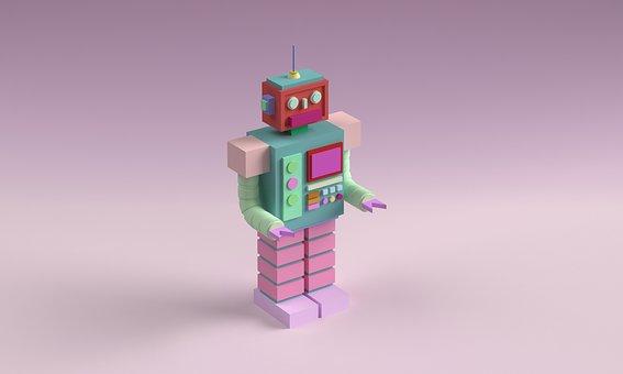 Robot, Toy, Geometric, 3d, Android, Robotic, Cyberpunk