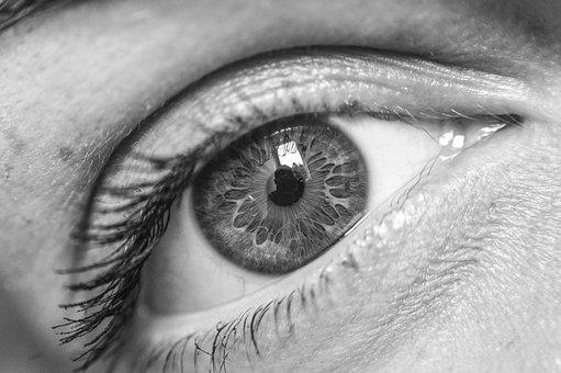 Eye, Vision, Sight, Monochrome, Pupil, Retina