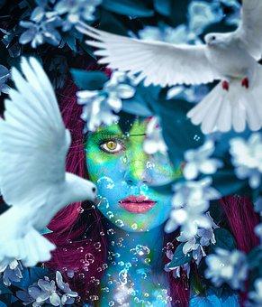 Fantasy, Surreal, Dream, Photomontage, Mystic, Eye