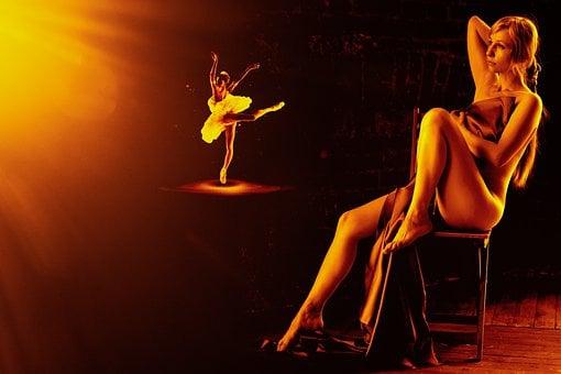 Woman, Ballerina, Nude, Sheet, Female, Erotic, Dreamy