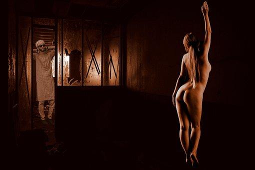 Woman, Nude, Man, Erotic, Room