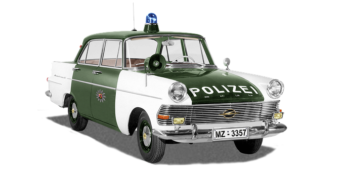 Opel Record P2, Police Car, Rhineland Palatinate