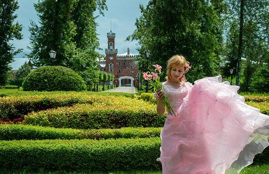 Woman, Pink Dress, Bride, Wedding Dress