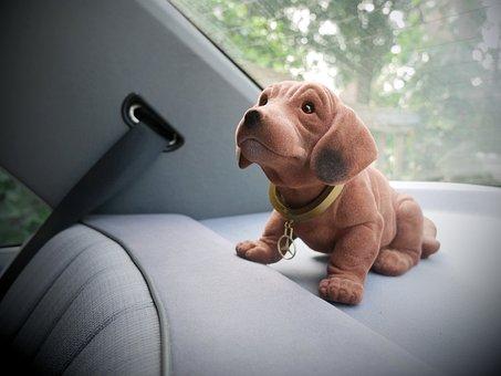 Nodding Dog, Car, Parcel Shelf, Toy Dog, Car Interior