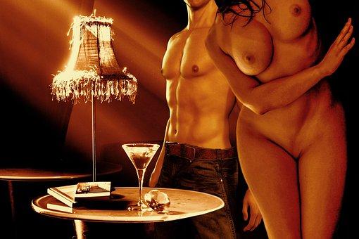 Woman, Nude, Intimate, Erotic, Man, Room
