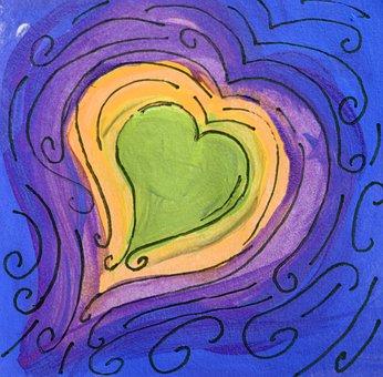 Heart, Scribble, Doodle, Pattern, Design, Whimsical