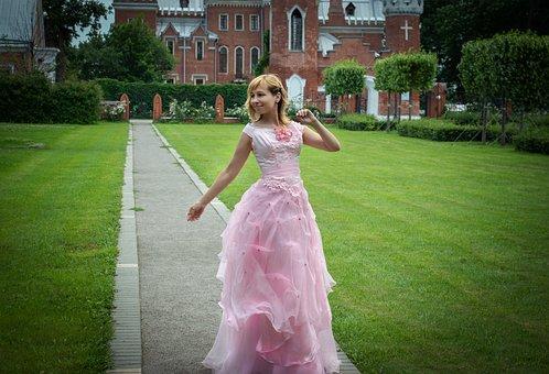 Woman, Quinceanera Dress, Castle Park, Fantasy, Lady