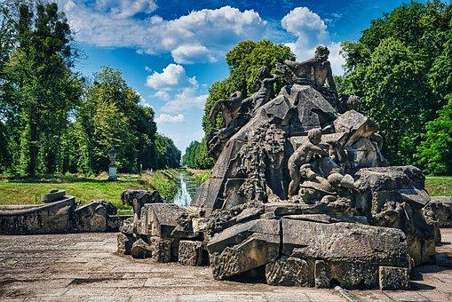 Monument, Stone Figures, Fountain, Spring