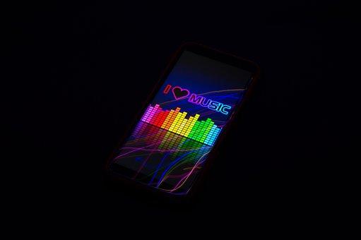 Music, Smartphone, Rhythm, Light, Bright, Playlist
