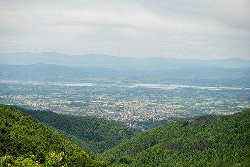 Mountains, Valley, City, Bijeli Kamen, Bosnia
