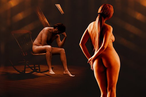 Couple, Body, Nude, Woman, Man, Erotic