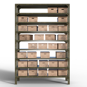 Shelf, Storage, Logistics, Box, Cardboard, Saved, Stack
