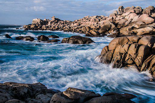 Sea, Coast, Rocks, Beach, Waves, Ocean, Water, Nature