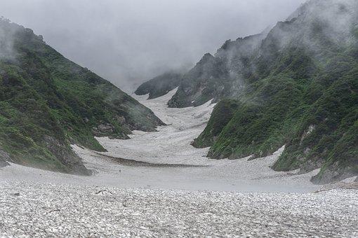 Mountain, Snow, Climbers, Fog, Iide Mountains