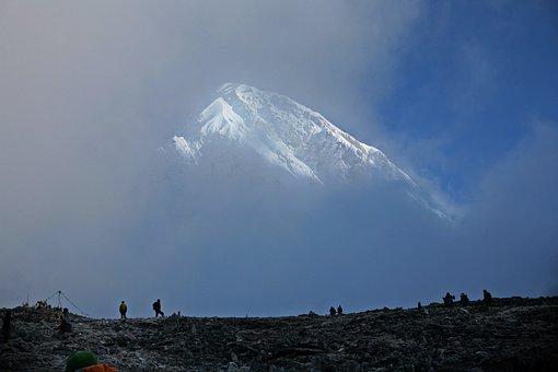 Himalayas, Nepal, Trekking, Mountain, Fog, Clouds