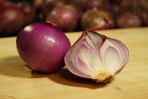 Onions, Common Onion, Vegetables, Bulb Onion, Sliced